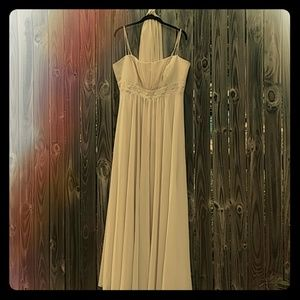 Bridal gown evening dress ivory size 18